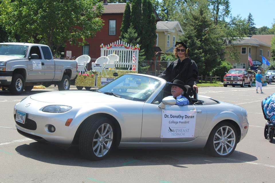 Dr. Duran in Red Wing Parade
