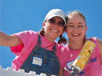 Habitat Women Build - Mary and Pam