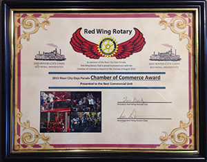 Red Wing Chamber of Commerce Award