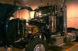 Green Diesel Truck Engine