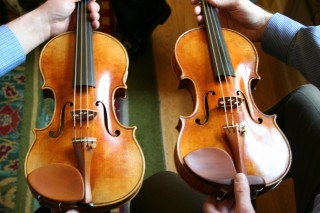 Rossow violin and original Betts Stradivarius