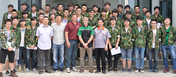 Automotive classes at Quzhou Institute of Technology
