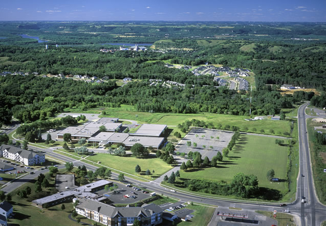 Aerial view of Red Wing Campus